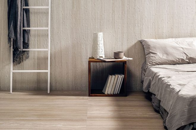 pavimento-camera-da-letto_Ceramiche-Coem_Flow_Beige-60x120_Pleated-White-60x120