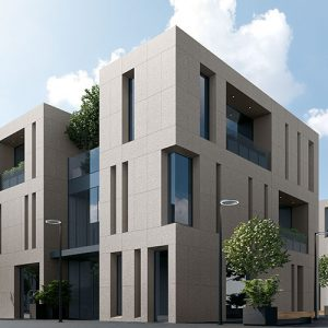 The best covering for external facades? Without doubt, porcelain stoneware!